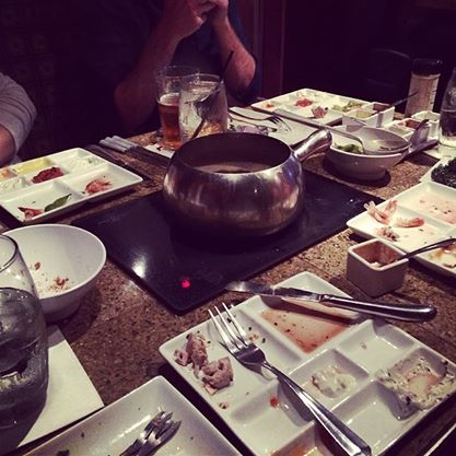 We killed our meal at The Melting Pot.